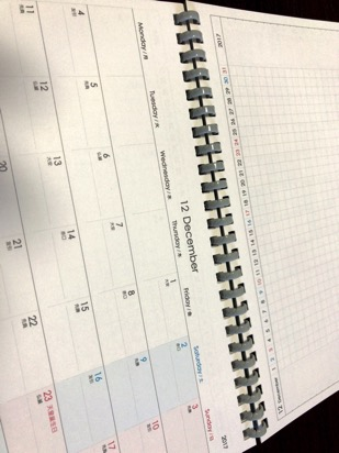 上にプロジェクト、下にマンスリーカレンダー